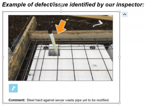 Base Stage Example of Defect 300x217 - New Home Construction Inspections - Each Stage is Important