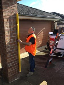 Checking Pillar or Wall for Plumb PP 225x300 - A Day in the Life of a Home Inspection Hub Inspector