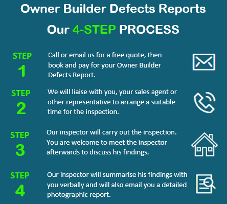 OB 4 Step Process - Owner Builder Defects (137b) Reports Online Resource
