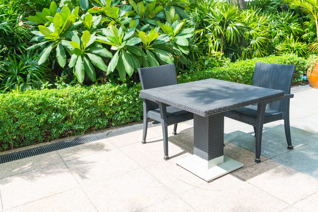 outdoor patio with chair table 1 1024x683 - Sell Your Home in Summer